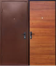Дверь входная Шагрень/ДСП 1 замок