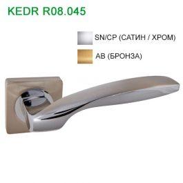 Ручка дверная Кедр R08.045 Сатин/хром